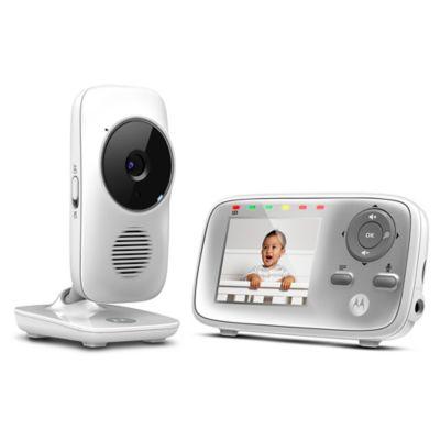 """Motorola® MBP483 2.8"""" Video Baby Monitor in White"""