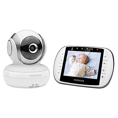 motorola mbp33xl 3 5 video baby monitor white bed bath beyond. Black Bedroom Furniture Sets. Home Design Ideas