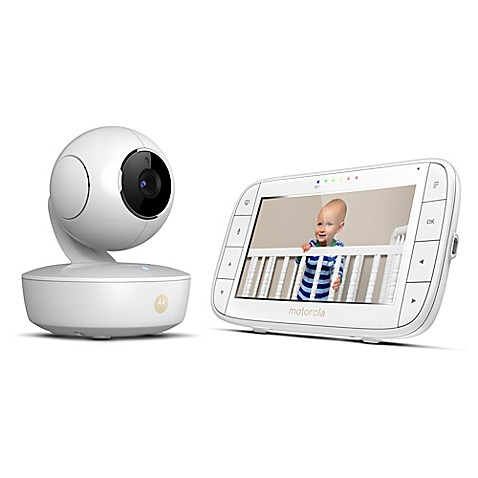 motorola mbp36xl portable 5 video baby monitor in white bed bath beyond. Black Bedroom Furniture Sets. Home Design Ideas