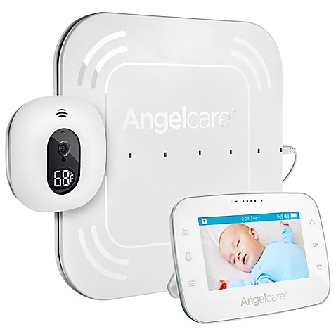 angelcare ac315 4 3 touch control movement video and sound monitor with wired sensor pad. Black Bedroom Furniture Sets. Home Design Ideas