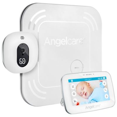 "Angelcare® AC417 4.3"" Touchscreen Movement, Video, and Sound Monitor with Wireless Sensor Pad"
