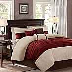 Madison Park Palmer 7-Piece King Comforter Set in Red