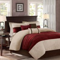Madison Park Palmer 7-Piece California King Comforter Set Red