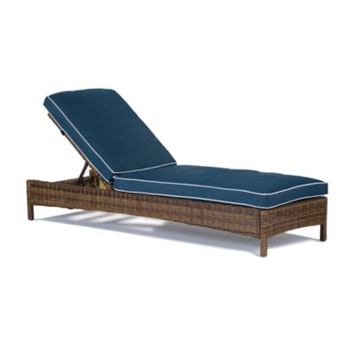 Modern Marketing Bradenton All-Weather Resin-Wicker Chaise Lounge in Brown with Cushions in  sc 1 st  Bed Bath u0026 Beyond : thin chaise lounge cushions - Sectionals, Sofas & Couches