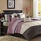 Madison Park Serene 7-Piece King Comforter Set in Purple