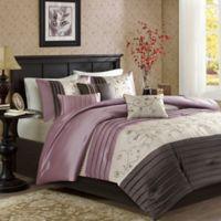 Madison Park Serene 7-Piece King Comforter Set in Purple