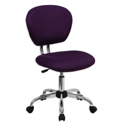 Delicieux Flash Furniture Mid Back Mesh Swivel Task Chair In Purple