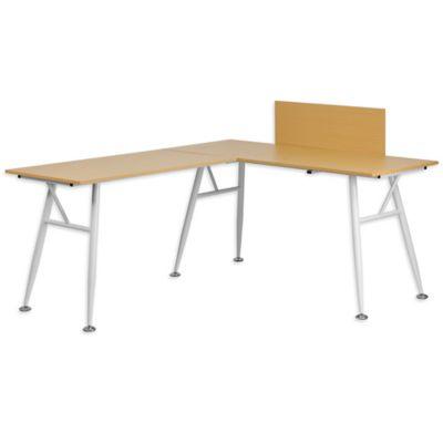 Flash Furniture Laminate L Shape Computer Desk In Beechwood