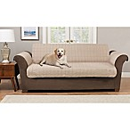 Pawslife™ Reversible Plush Quilt Sofa Furniture Cover in Taupe/Brown