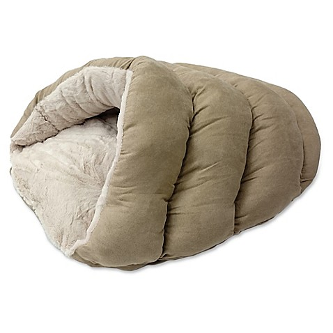 Buy Sleep Zone Cuddle Cave Pet Bed In Tan From Bed Bath