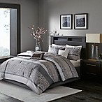 Madison Park Rhapsody 7-Piece Queen Comforter Set in Grey