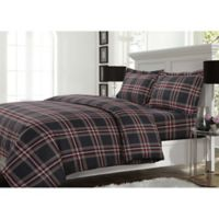 Tribeca Living Heritage Plaid King Duvet Cover Set