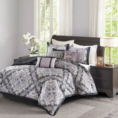 Madison Park Josephine 7 Piece California King Comforter Set in Black. Buy Cal King Bedding Sets Comforters from Bed Bath   Beyond