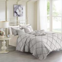 Madison Park Rosie 6-Piece Full/Queen Coverlet Set in Grey