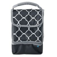 Lifetime Brands BYO Dual Moroccan Tile Lunch Bag in Black/White