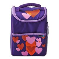Lifetime Brands BYO Dual Beating Hearts Lunch Bag in Purple/Pink