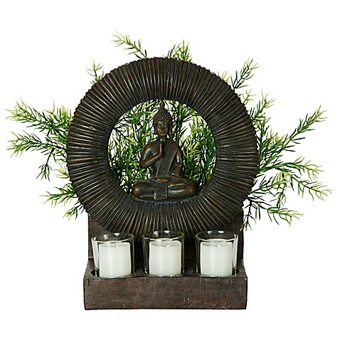 Bombay® Outdoor Buddha Planter and Tealights in Brown