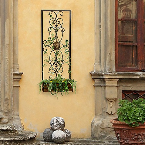 Bombay® Outdoor Lion Wall Planter in Brown