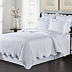 Lyon Matelassé Full/Queen Coverlet Set in White