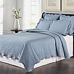 Lyon Matelassé King Coverlet Set in Blue
