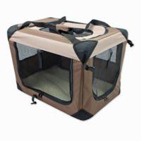 Multi-Purpose Pet Small Soft Crate in Coffee