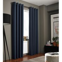 Kenneth Cole Reaction Home Bryant Park 63-Inch Grommet Top Window Curtain Panel in Midnight