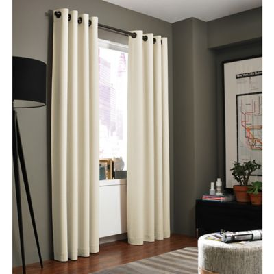 Kenneth Cole Reaction Home Bryant Park 84 Inch Grommet Top Window Curtain Panel In Chalk
