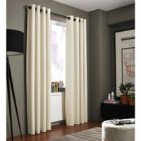Kenneth Cole Reaction Home Bryant Park 84-Inch Grommet Top Window Curtain Panel in Chalk