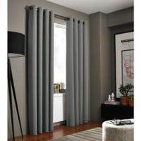 Kenneth Cole Reaction Home Bryant Park 84-Inch Grommet Top Window Curtain Panel in Graphite