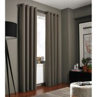 Kenneth Cole Reaction Home Bryant Park 63-Inch Grommet Top Window Curtain Panel in Mocha