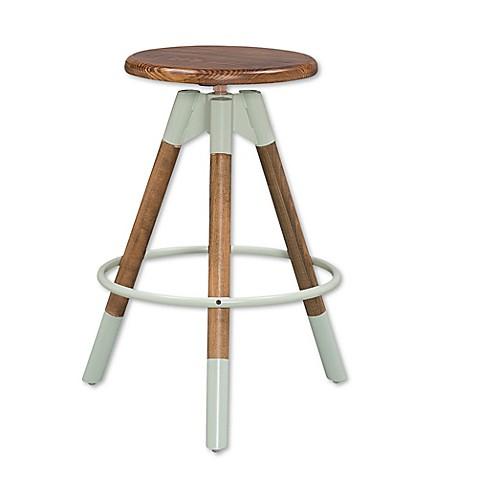 Adjustable screw top stool in walnut sage bed bath beyond - Screw top bar stools ...