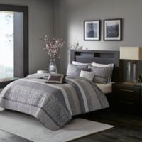 Madison Park Rhapsody King/California King Coverlet Set in Grey