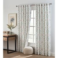 Cambree Ogee 84-Inch Rod Pocket/Back Tab Window Curtain Panel in Spa