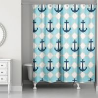 Designs Direct Anchor Shower Curtain in Blue