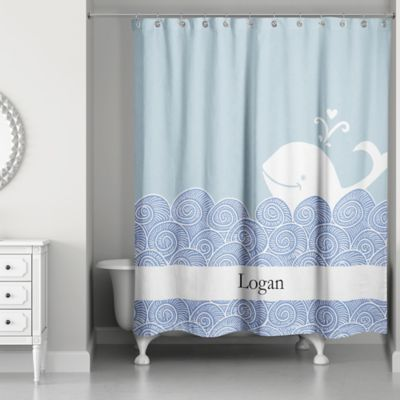 designs direct first mate shower curtain in blue