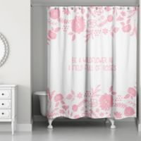 Designs Direct Little Lady Collection Shower Curtain in Pink
