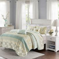 Madison Park Willa 6-Piece Full/Queen Coverlet Set in Green