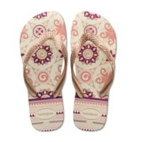 Havaianas® Size 11/12 Top Spring Women's Sandal in White/Rose