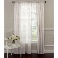 Laura Ashley® Frosting 84-Inch Window Curtain Panel in White
