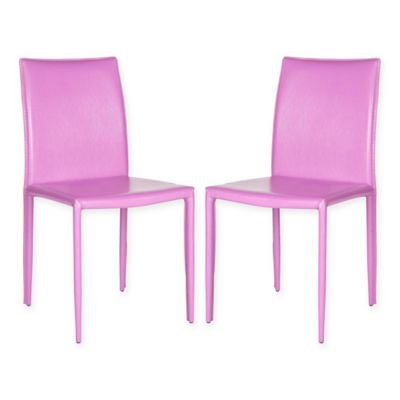 Safavieh Karna Dining Chairs In Purple (Set Of 2)