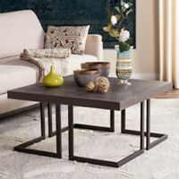 Safavieh Amalya Modern Mid Century Wood Coffee Table in Dark Grey/Black