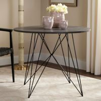 Safavieh Marino Round Dining Table in Dark Grey/Black