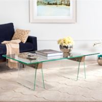 Safavieh Modern Glass Loft Coffee Table in Clear/Grey