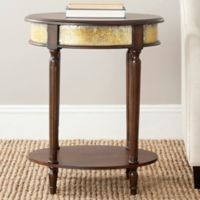 Safavieh Bernice Side Table in Dark Brown