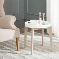 Safavieh Ben Side Table in White/Grey