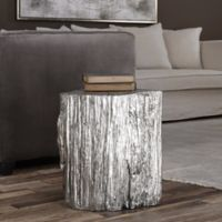 Uttermost Cambium Tree Stump Stool in Silver