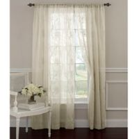 Laura Ashley® Frosting 63-Inch Window Curtain Panel in Ivory