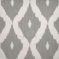 Graham & Brown Kelly's Ikat Wallpaper in White/Soft Grey