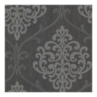 Sparkle Ambrosia Damask Wallpaper in Glitter Charcoal