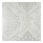 Sparkle Ambrosia Damask Wallpaper in Glitter Silver